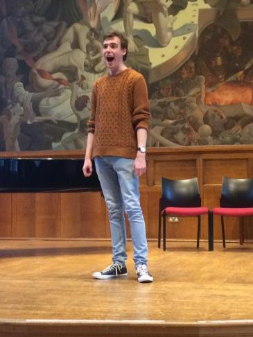 'You'll be back' from Hamilton, performed by Sam Teague